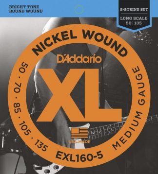 Струны D`ADDARIO EXL160-5